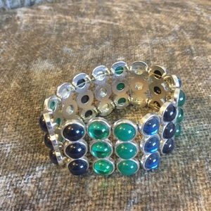Jewelry - 🎀NEW🎀 SLIDE ON BRACELET WITH BLUE STONES